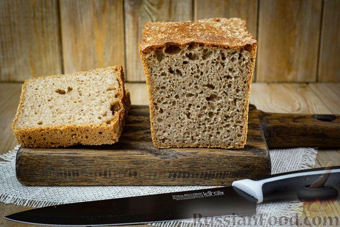 Фото к рецепту: Пшенично-ржаной цельнозерновой хлеб из дрожжевого теста на закваске