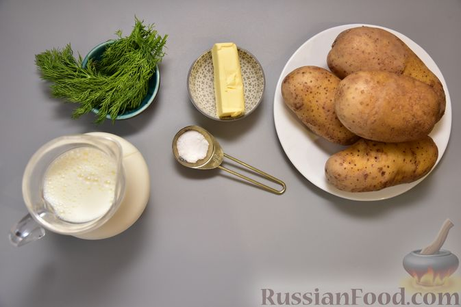 Фото приготовления рецепта: Картофель, тушенный в молоке - шаг №1