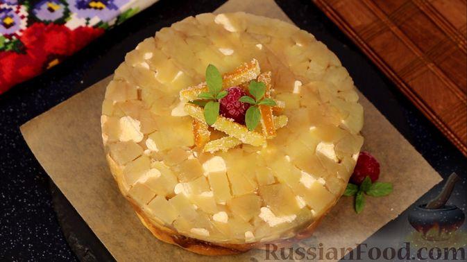 Фото приготовления рецепта: Творожная запеканка с яблоками, изюмом и курагой - шаг №12