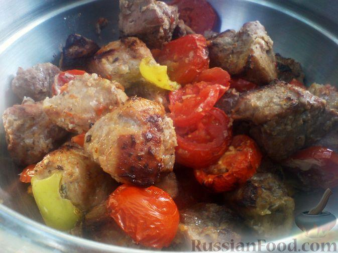 Рецепт Шашлык свиной с овощами