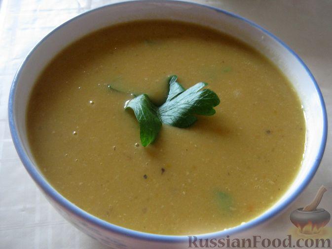 Рецепт Суп-пюре из чечевицы вегетарианский