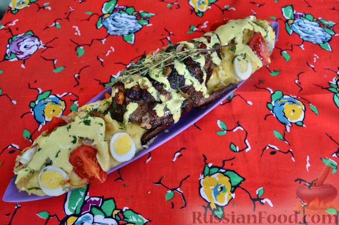 Рецепт Дикий голубь, с картофельным пюре и сливочным соусом