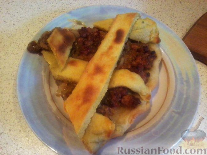 Рецепт Творожный пирог с мясом и капустой