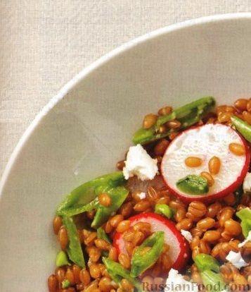 Рецепт Салат с пшеницей, редисом и зеленым горошком