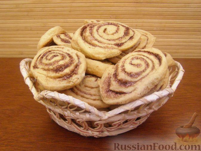 Рецепт Песочные рулетики с корицей