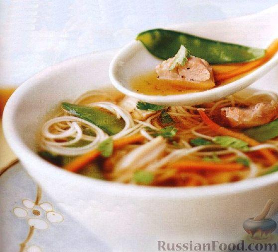 Рецепт Азиатский куриный суп с лапшой
