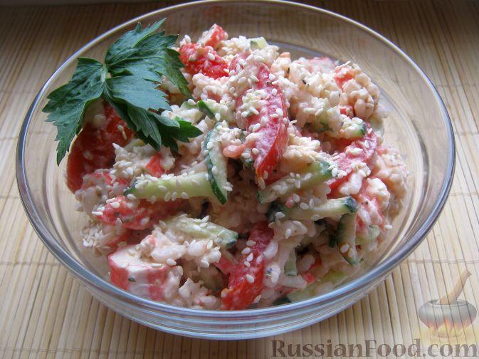 Постный салат из крабовых палочек рецепты
