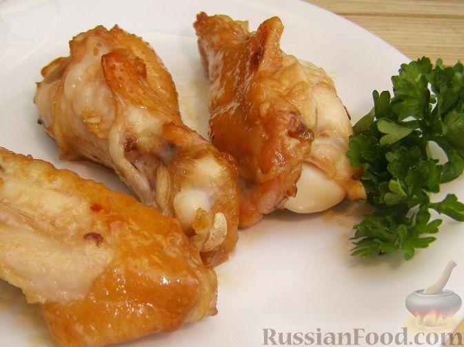 Рецепт Куриные крылышки в медово-соевом соусе