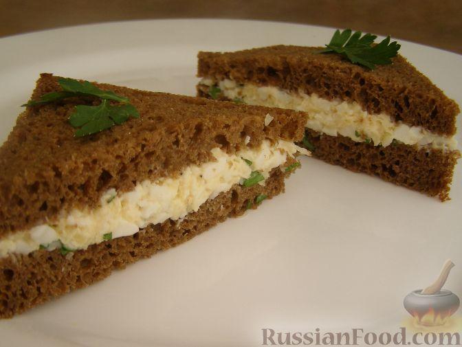 Рецепт Тосты с яичным салатом