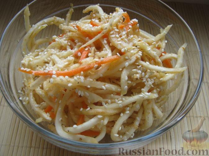 Рецепт Сельдерей с морковью по-корейски