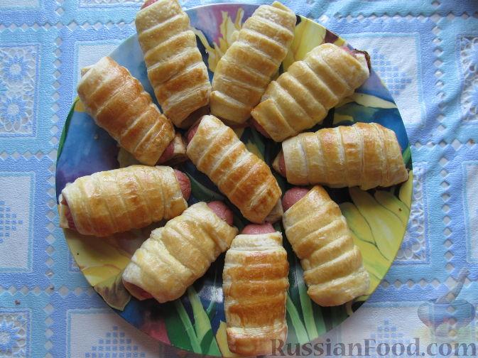 Сосиски в слоеном тесте  Рецепт с фото на Готовим дома
