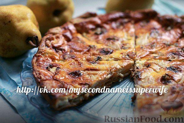 Рецепт Пирог с грушами и голубым сыром