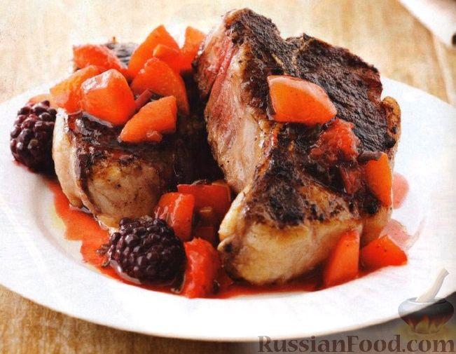 Рецепт Бараньи котлеты с фруктовым чатни