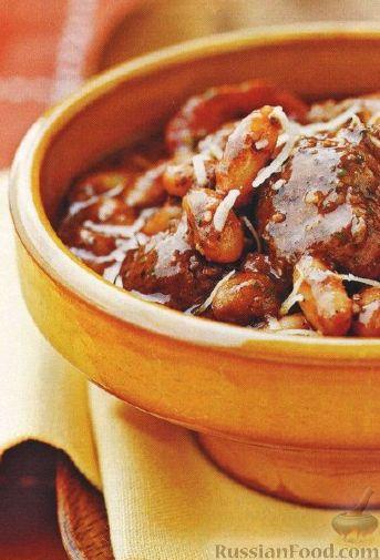 Рецепт Фасолевое рагу с тефтелями (в медленноварке)