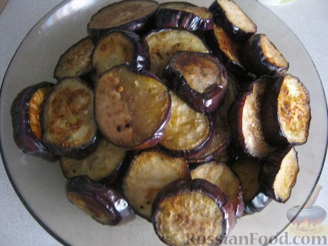 Фото приготовления рецепта: Салат из баклажанов и брынзы - шаг №5