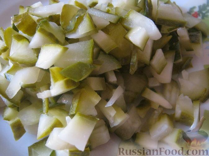 Фото приготовления рецепта: Салат из баклажанов и брынзы - шаг №6
