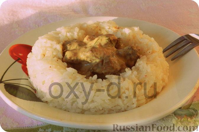 Рецепт Печень в сырном соусе (в мультиварке)