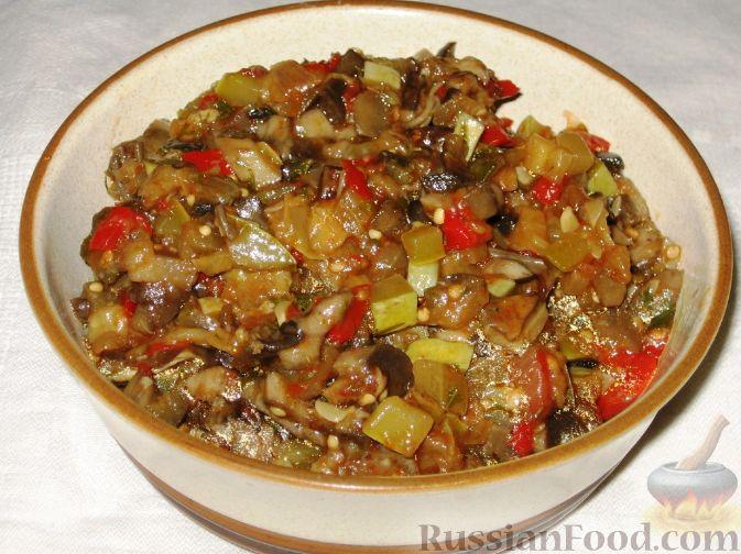 Рецепт Баклажанное рагу с лесными грибами