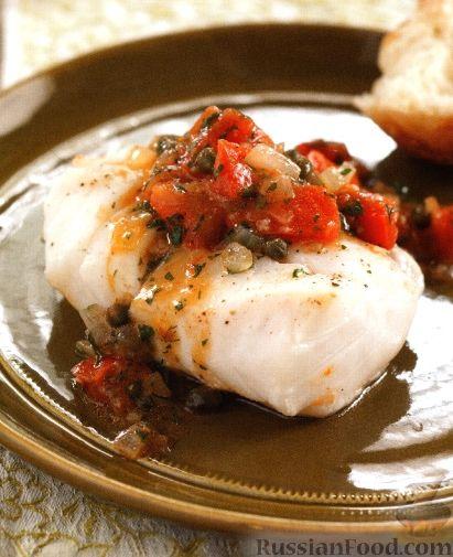 Рецепт Треска, тушенная с томатным соусом