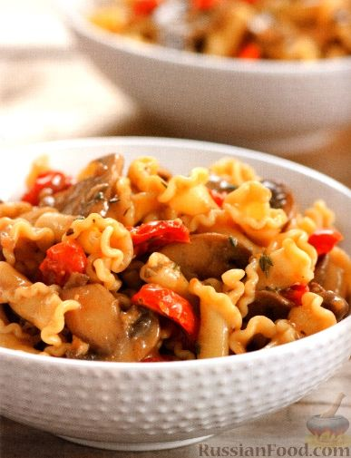 Рецепт Паста с грибами и помидорами