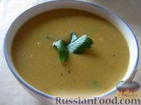 Фото к рецепту: Суп-пюре из чечевицы вегетарианский