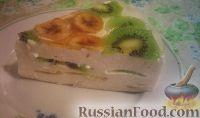 Фото к рецепту: Торт творожный с фруктами