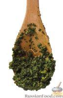 Фото к рецепту: Соус песто с фисташками и рукколой