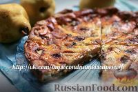 Фото к рецепту: Пирог с грушами и голубым сыром