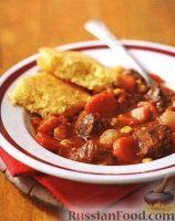 Фото к рецепту: Рагу из замороженных овощей и говядины (в медленноварке)