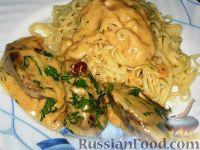 Фото к рецепту: Печень в сырном соусе