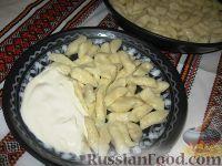 Фото к рецепту: Творожно-картофельные галушки