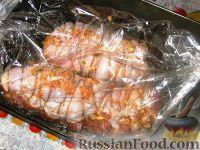 Фото приготовления рецепта: Рулеты из индейки с чесночной пастой - шаг №4