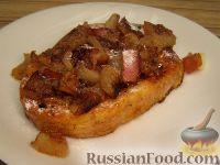 Фото к рецепту: Бутерброды с жареными яблоками