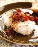 Фото к рецепту: Треска, тушенная с томатным соусом