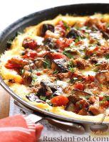 Фото к рецепту: Полента с баклажанами в сковороде