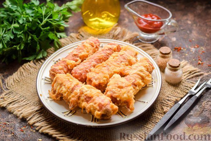 Фото к рецепту: Сосиски в кляре, жаренные во фритюре