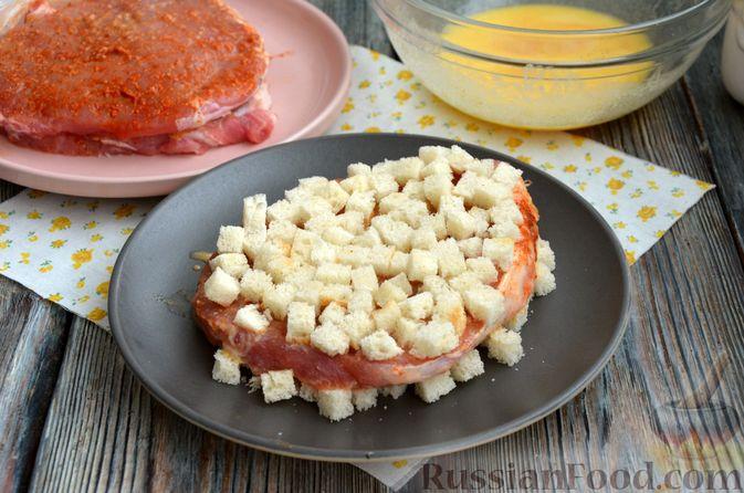 Фото изготовления рецепта: Шницель из свинины в хлебной панировке - шаг №11