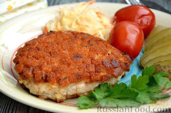 Фото изготовления рецепта: Шницель из свинины в хлебной панировке - шаг №16