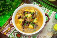 Фото к рецепту: Фасолевый суп с тушёнкой