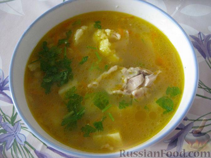 Рецепт Куриный суп с перловкой и цветной капустой