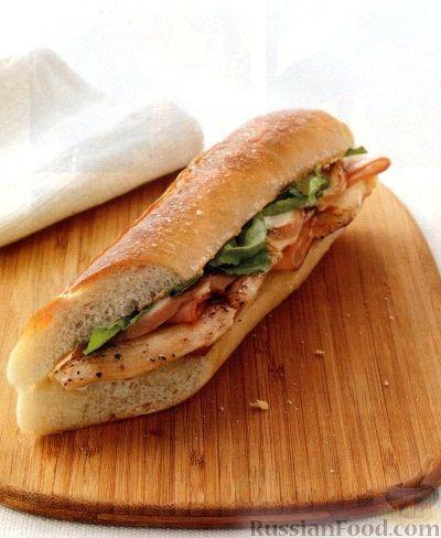 Рецепт Бургеры с куриным филе, ветчиной и сыром