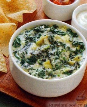 Рецепт Закусочный соус из шпината, артишоков и сыра