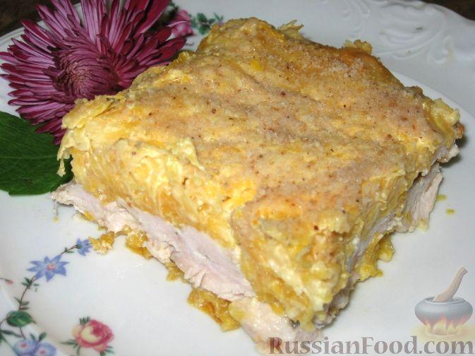 Рецепт Запеканка из курицы, тыквы и сыра