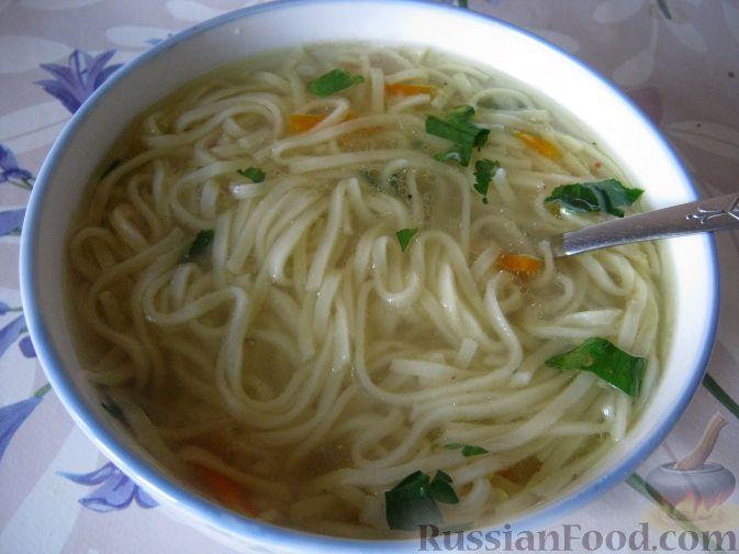 Рецепт Суп куриный с домашней лапшой