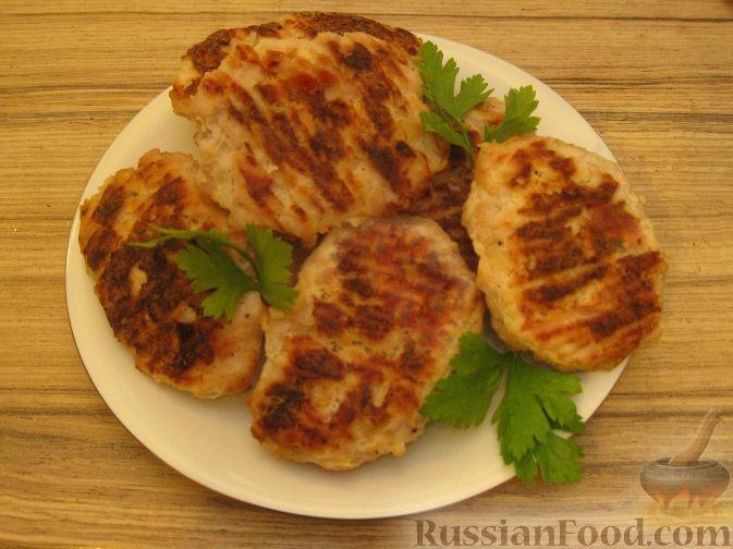 котлеты куриные в сливках в духовке рецепт