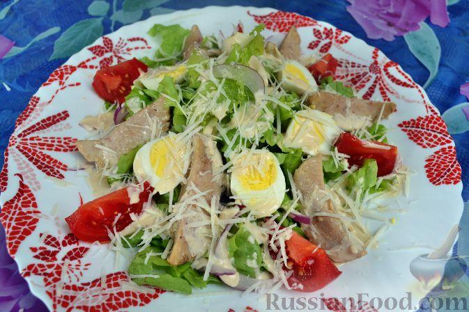 Рецепт Салат с бараньими яйцами