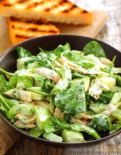 Рецепт Куриный салат с сельдереем и яблоками