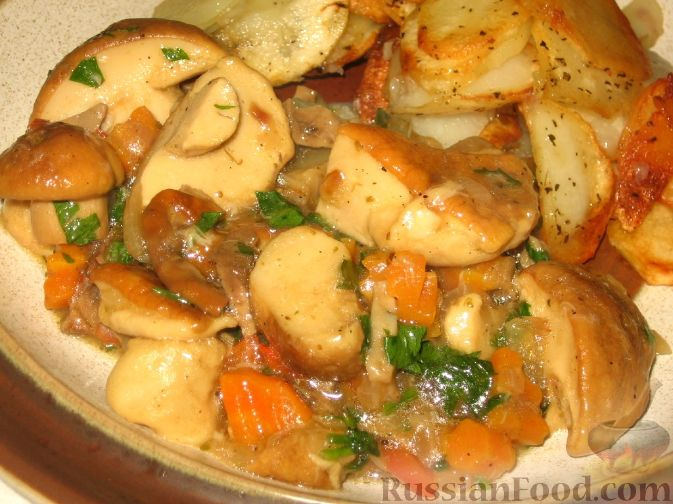 Рецепт Гуляш из белых грибов