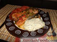 Фото к рецепту: Форель, запечённая в духовке