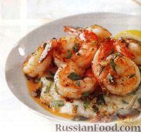 Фото к рецепту: Креветки с простым гарниром